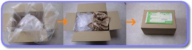 リールの箱詰め梱包
